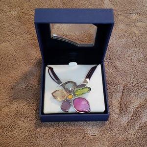 Swarovski flower gem choker - NWOT